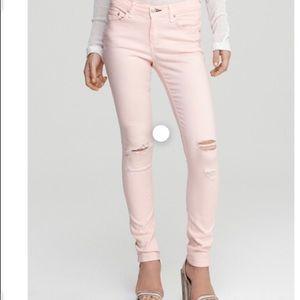 Rag & bone size 32 pink skinny jeans